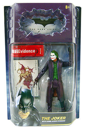 Movie Masters The Joker action figure with crime scene evidence