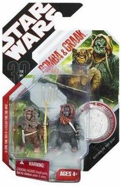 30th Anniversary Star Wars Ewoks Romba & Graak Action Figures