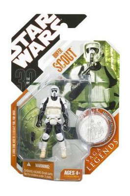 Star Wars Saga Legends Biker Scout Action Figure