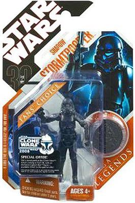 Star Wars Saga Legends Shadow Stormtrooper Action Figure